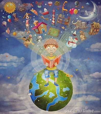 petit-garçon-s-asseyant-sur-la-planète-et-le-livre-de-lecture-59220284